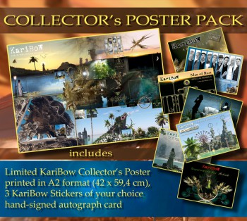 * COLLECTOR'S POSTER * + 3 Stickers of your choice + Signed autograph card