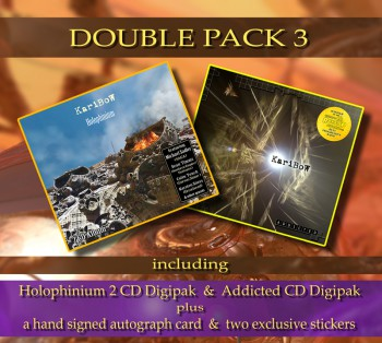 ***** DOUBLE PACK 3 ***** HOLOPHINIUM Digipak ****  + ADDICTED Digipak ******* + Signed Autograph Card * + 2 Exclusive Stickers *****