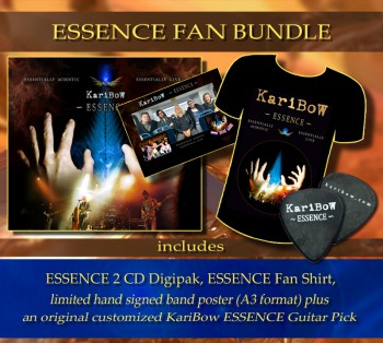 * ESSENCE FAN Bundle * ESSENCE (2CD Digipak) ** + ESSENCE Fan T-Shirt *** + ESSENCE GUITAR PICK * + Hand signed band poster