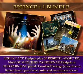 ** ESSENCE +1 Bundle ** ESSENCE (2CD Digipak) ** + 1 Album of your choice * + Hand signed band poster