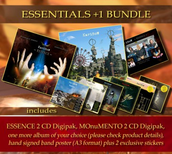 * ESSENTIALS +1 Bundle * ESSENCE (2CD Digipak) **  MOnuMENTO (2CD Digipak) + 1 Album of your choice * + Hand signed band poster