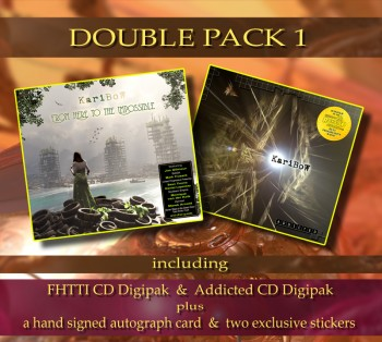 ***** DOUBLE PACK 1 ***** ******* FHTTI Digipak ****** + ADDICTED Digipak ******* + Signed Autograph Card * + 2 Exclusive Stickers *****