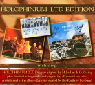 HOLOPHINIUM Ltd. Edition  ****** (2CD Digipak) ******* ** hand signed by Michael Sadler & Oliver Rüsing **** + Signed Autograph Card * + Signed Live Poster Print