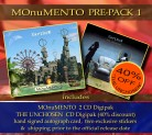 MOnuMENTO PRE-PACK 1 MOnuMENTO 2CD Digipak * + THE UNCHOSEN Digipak * + Signed Autograph Card * + 2 Exclusive Stickers *****