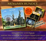 ***** MOnuMIX Bundle ***** MOnuMENTO 2CD Digipak * + 1 Album of your choice * + Signed Autograph Card * + two exclusive Stickers *