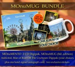 **** MOnuMUG Bundle **** MOnuMENTO 2CD Digipak * + 1 Album of your choice * + MOnuMUG (Limited Ed.) * + Signed Autograph Card * + two exclusive Stickers *