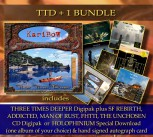 ** TTD PLUS ONE Bundle ** THREE TIMES DEEPER (CD) + 1 Album of your choice * + Signed autograph card **