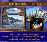 * TTD PRE 3 Disc Bundle * THREE TIMES DEEPER PRE + 1 Album of your choice * + Signed autograph card **