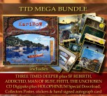 ** TTD MEGA BUNDLE ** THREE TIMES DEEPER (CD) + 5 KariBow CD Digipaks * + HOLOPHINIUM Digital DL + Collectors Poster/Extras + Signed autograph card **