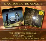* UNCHOSEN BUNDLE 1 * THE UNCHOSEN Digipak *** + ADDICTED Digipak ******* + Signed Autograph Card * + 2 Exclusive Stickers *****
