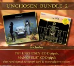 * UNCHOSEN BUNDLE 2 * THE UNCHOSEN Digipak *** + MAN OF RUST Digipak *** + Signed Autograph Card * + 2 Exclusive Stickers *****