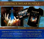 * ESSENCE WEAR Bundle * ESSENCE (2CD) Preorder * + ESSENCE Fan T-Shirt *** + Hand signed band poster