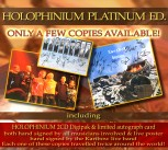 HOLOPHINIUM Platinum ED  NEW! (2CD Digipak) NEW! Our last 2 copies signed by all musicians involved in the worldwide production + signed Card & Poster *** They travelled the earth!