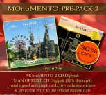 MOnuMENTO PRE-PACK 2 MOnuMENTO 2CD Digipak * + MAN OF RUST Digipak *** + Signed Autograph Card * + 2 Exclusive Stickers *****