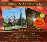 MOnuMENTO PRE-PACK 3 MOnuMENTO 2CD Digipak * + ADDICTED Digipak ******* + Signed Autograph Card * + 2 Exclusive Stickers *****