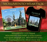 MOnuMENTO WEAR PACK MOnuMENTO 2CD Digipak * + MOnuMENTO FAN-SHIRT + Signed Autograph Card * + MOnuMENTO Sticker ***